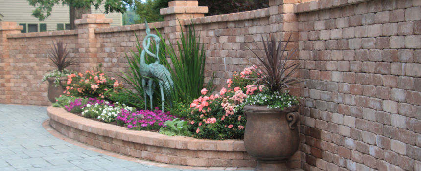 home feature wall and garden